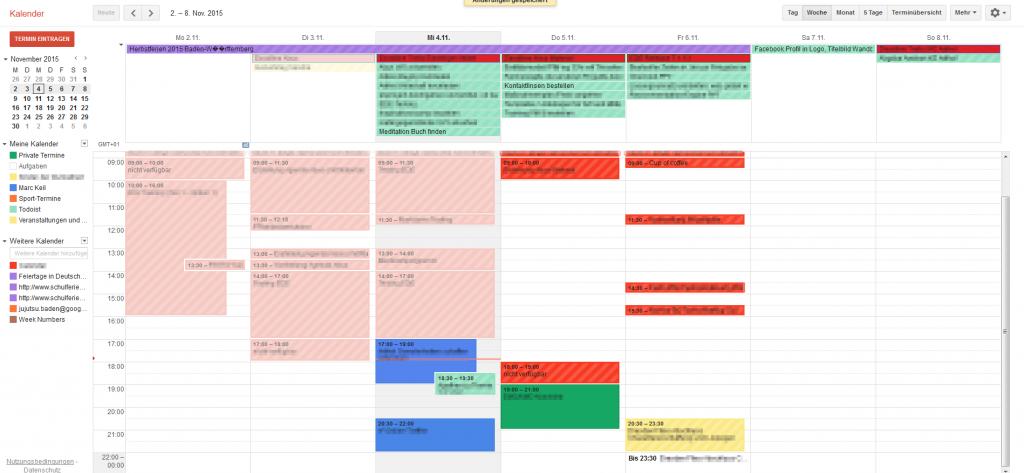 Aufgabenverwaltung mit Google Kalender