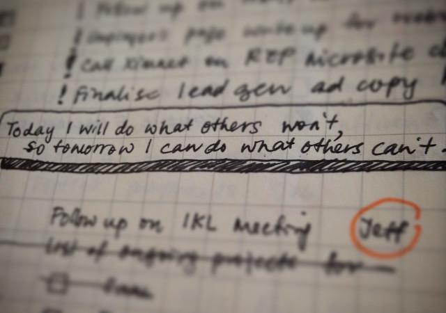 Prioritäten setzen wie beim Bullet Journal